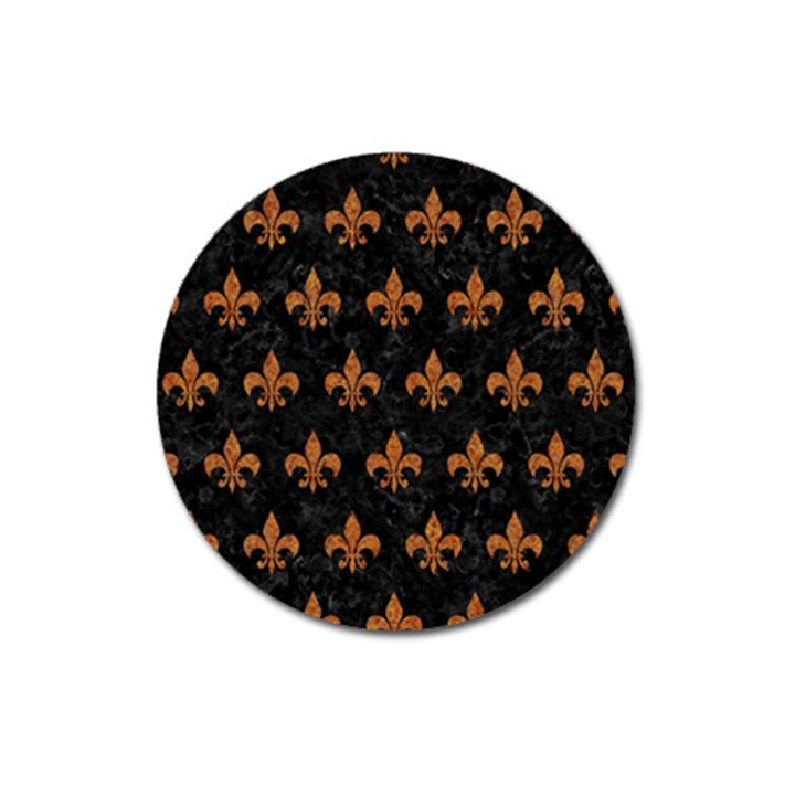 ROYAL1 BLACK MARBLE & RUSTED METAL Magnet 3  (Round)