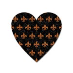 ROYAL1 BLACK MARBLE & RUSTED METAL Heart Magnet Front