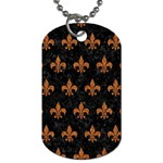 ROYAL1 BLACK MARBLE & RUSTED METAL Dog Tag (One Side) Front
