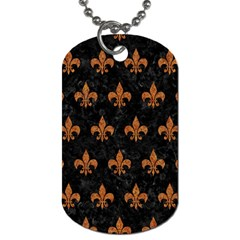 Royal1 Black Marble & Rusted Metal Dog Tag (two Sides)