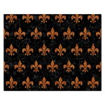 ROYAL1 BLACK MARBLE & RUSTED METAL Rectangular Jigsaw Puzzl Front