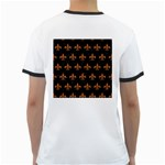 ROYAL1 BLACK MARBLE & RUSTED METAL Ringer T-Shirts Back