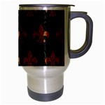 ROYAL1 BLACK MARBLE & RUSTED METAL Travel Mug (Silver Gray) Right