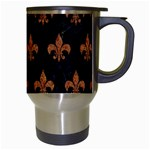 ROYAL1 BLACK MARBLE & RUSTED METAL Travel Mugs (White) Right
