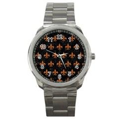 Royal1 Black Marble & Rusted Metal Sport Metal Watch