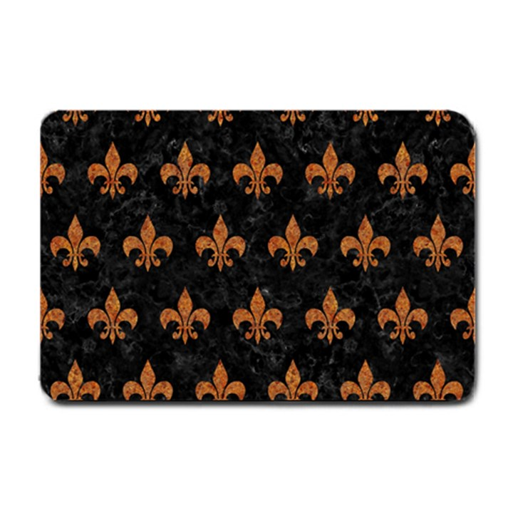 ROYAL1 BLACK MARBLE & RUSTED METAL Small Doormat