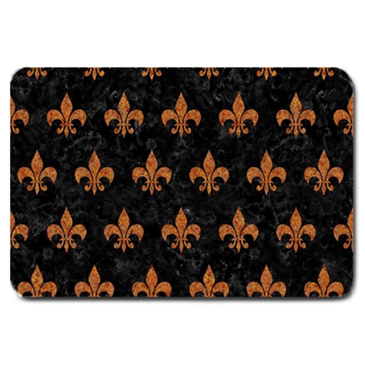 ROYAL1 BLACK MARBLE & RUSTED METAL Large Doormat