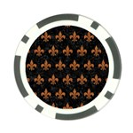 ROYAL1 BLACK MARBLE & RUSTED METAL Poker Chip Card Guard Front