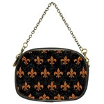 ROYAL1 BLACK MARBLE & RUSTED METAL Chain Purses (Two Sides)  Front