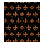 ROYAL1 BLACK MARBLE & RUSTED METAL Shower Curtain 66  x 72  (Large)  58.75 x64.8 Curtain