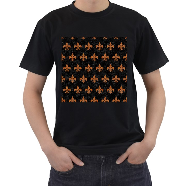 ROYAL1 BLACK MARBLE & RUSTED METAL Men s T-Shirt (Black)