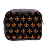 ROYAL1 BLACK MARBLE & RUSTED METAL Mini Toiletries Bag 2-Side Back