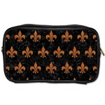 ROYAL1 BLACK MARBLE & RUSTED METAL Toiletries Bags 2-Side Front