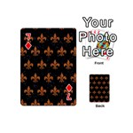 ROYAL1 BLACK MARBLE & RUSTED METAL Playing Cards 54 (Mini)  Front - Diamond7