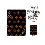 ROYAL1 BLACK MARBLE & RUSTED METAL Playing Cards 54 (Mini)  Front - Spade6