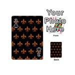 ROYAL1 BLACK MARBLE & RUSTED METAL Playing Cards 54 (Mini)  Front - Club3