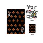 ROYAL1 BLACK MARBLE & RUSTED METAL Playing Cards 54 (Mini)  Front - Club9