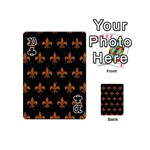 ROYAL1 BLACK MARBLE & RUSTED METAL Playing Cards 54 (Mini)  Front - Club10