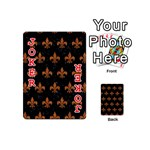 ROYAL1 BLACK MARBLE & RUSTED METAL Playing Cards 54 (Mini)  Front - Joker2