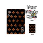ROYAL1 BLACK MARBLE & RUSTED METAL Playing Cards 54 (Mini)  Front - Spade10