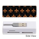 ROYAL1 BLACK MARBLE & RUSTED METAL Memory Card Reader (Stick)  Front