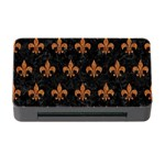 ROYAL1 BLACK MARBLE & RUSTED METAL Memory Card Reader with CF Front