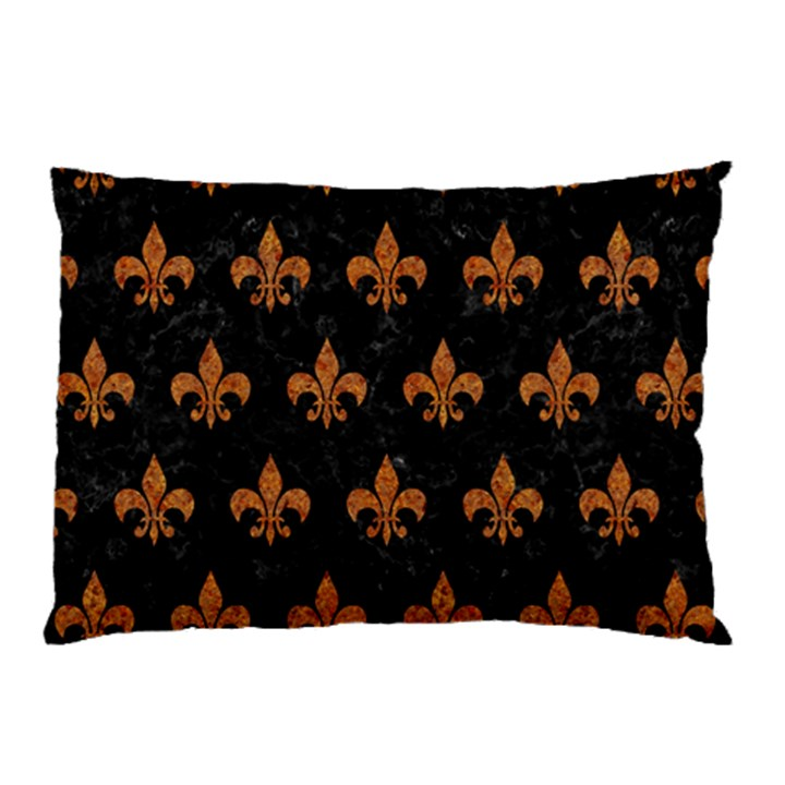 ROYAL1 BLACK MARBLE & RUSTED METAL Pillow Case (Two Sides)