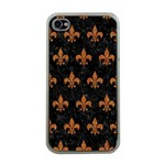 ROYAL1 BLACK MARBLE & RUSTED METAL Apple iPhone 4 Case (Clear) Front
