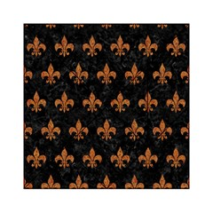 Royal1 Black Marble & Rusted Metal Acrylic Tangram Puzzle (6  X 6 )