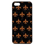 ROYAL1 BLACK MARBLE & RUSTED METAL Apple iPhone 5 Seamless Case (Black) Front