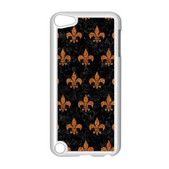 Royal1 Black Marble & Rusted Metal Apple Ipod Touch 5 Case (white)