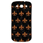 ROYAL1 BLACK MARBLE & RUSTED METAL Samsung Galaxy S3 S III Classic Hardshell Back Case Front