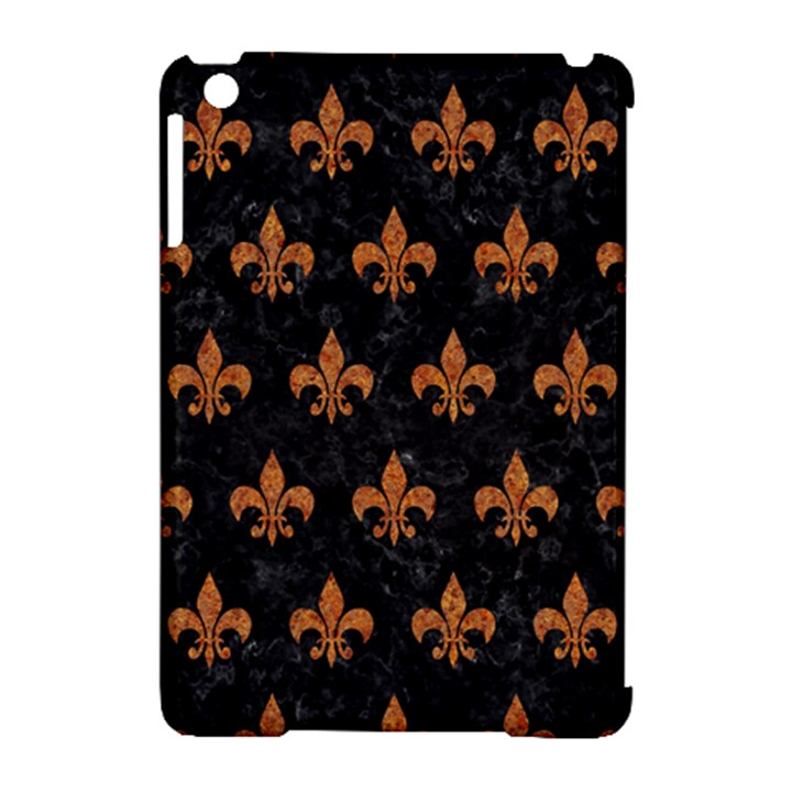 ROYAL1 BLACK MARBLE & RUSTED METAL Apple iPad Mini Hardshell Case (Compatible with Smart Cover)