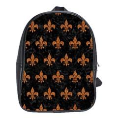 Royal1 Black Marble & Rusted Metal School Bag (xl)