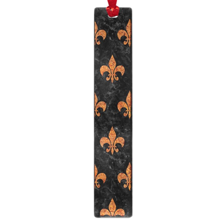 ROYAL1 BLACK MARBLE & RUSTED METAL Large Book Marks