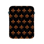 ROYAL1 BLACK MARBLE & RUSTED METAL Apple iPad 2/3/4 Protective Soft Cases Front