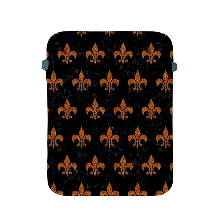 ROYAL1 BLACK MARBLE & RUSTED METAL Apple iPad 2/3/4 Protective Soft Cases