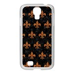 ROYAL1 BLACK MARBLE & RUSTED METAL Samsung GALAXY S4 I9500/ I9505 Case (White) Front