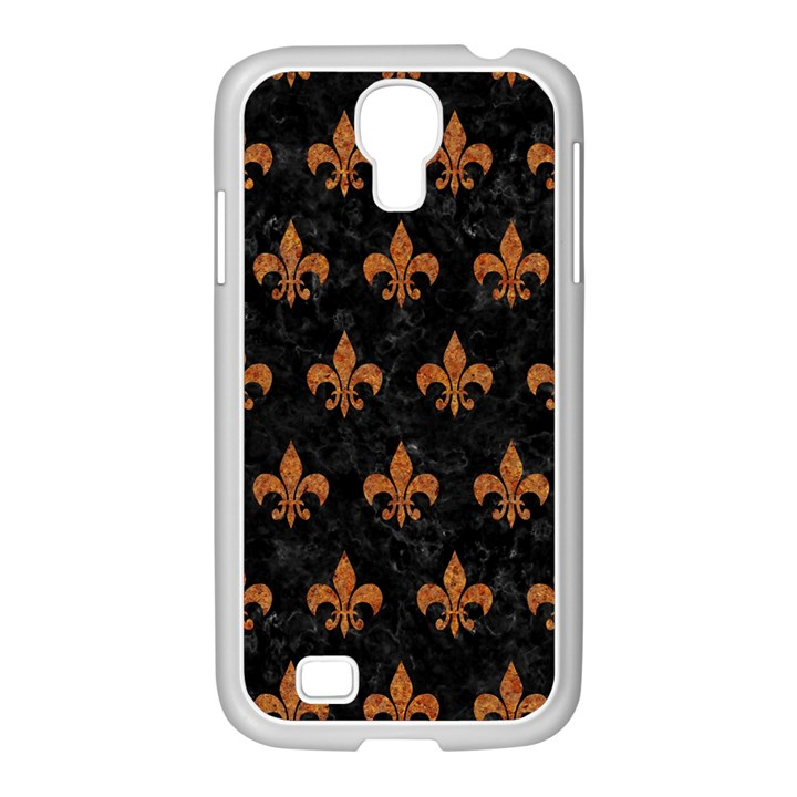 ROYAL1 BLACK MARBLE & RUSTED METAL Samsung GALAXY S4 I9500/ I9505 Case (White)