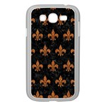 ROYAL1 BLACK MARBLE & RUSTED METAL Samsung Galaxy Grand DUOS I9082 Case (White) Front
