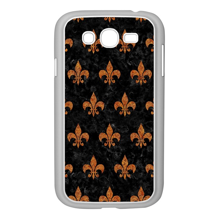 ROYAL1 BLACK MARBLE & RUSTED METAL Samsung Galaxy Grand DUOS I9082 Case (White)