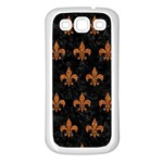 ROYAL1 BLACK MARBLE & RUSTED METAL Samsung Galaxy S3 Back Case (White) Front