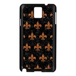ROYAL1 BLACK MARBLE & RUSTED METAL Samsung Galaxy Note 3 N9005 Case (Black) Front