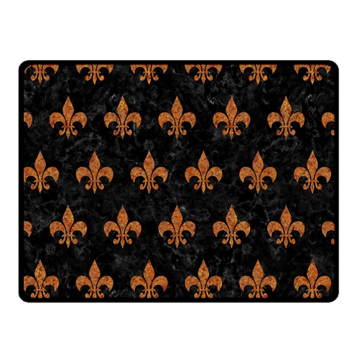 ROYAL1 BLACK MARBLE & RUSTED METAL Double Sided Fleece Blanket (Small)