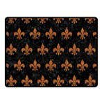 ROYAL1 BLACK MARBLE & RUSTED METAL Double Sided Fleece Blanket (Small)  45 x34 Blanket Back