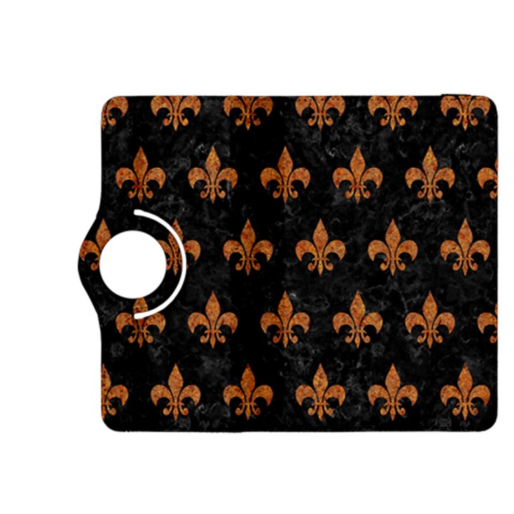 ROYAL1 BLACK MARBLE & RUSTED METAL Kindle Fire HDX 8.9  Flip 360 Case