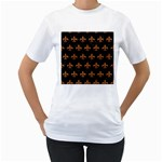 ROYAL1 BLACK MARBLE & RUSTED METAL Women s T-Shirt (White)  Front
