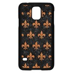 ROYAL1 BLACK MARBLE & RUSTED METAL Samsung Galaxy S5 Case (Black) Front