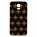 ROYAL1 BLACK MARBLE & RUSTED METAL Samsung Galaxy S5 Back Case (White) Front