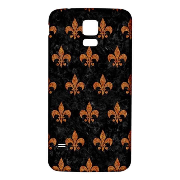 ROYAL1 BLACK MARBLE & RUSTED METAL Samsung Galaxy S5 Back Case (White)